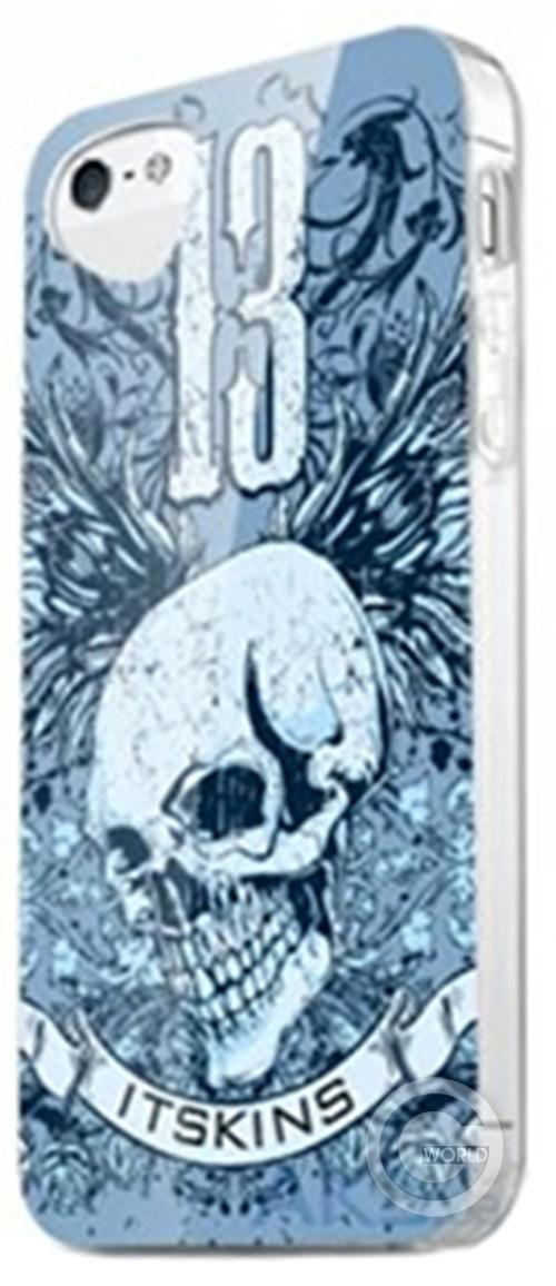 Чехол-накладка ITSKINS Phantom for iPhone 5/5S Blue Skull