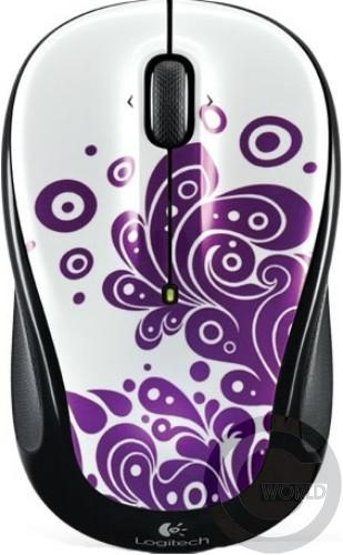 Компьютерная мышь Logitech Wireless mouse M325, Purple Swirls