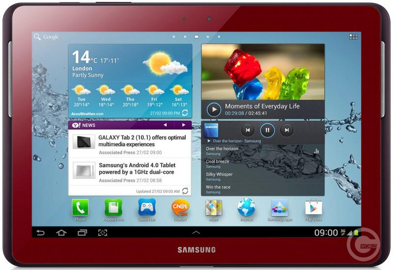 Galaxy Tab 2 10.1 P5100 16Gb Garnet Red