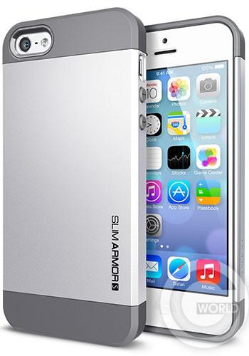 SGP iPhone 5S/5 Case Slim Armor S Satin Silver