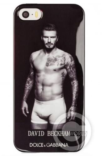 TPU case D&G 5/5s David Beckham Black