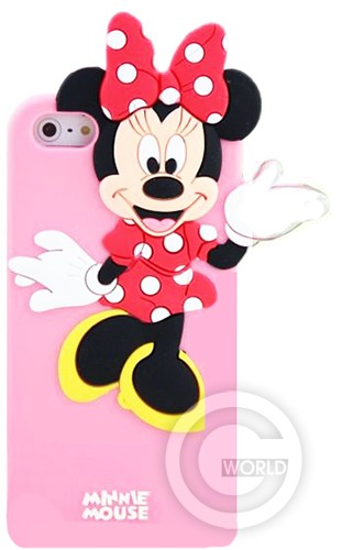 TPU case Disney Minne Mouse for 5/5s Глянец