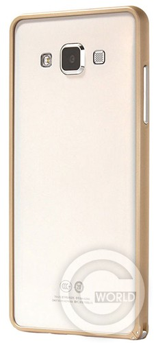 Бампер Cross case защелка для Samsung A700, gold