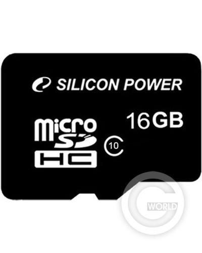 Карта памяти SILICON POWER microSDHC 16Gb Class10