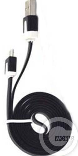 Кабель USB-micro USB small noodle 1m mix color