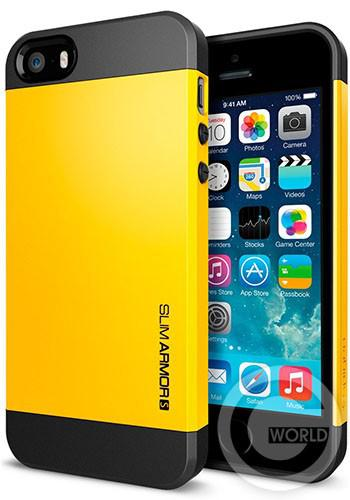 SGP iPhone 5S/5 Case Slim Armor S Reventon Yellow