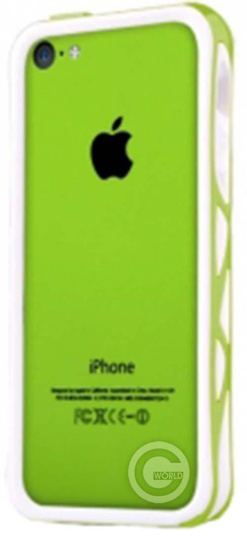 Чехол-бампер ITSKINS Venum for iPhone 5C Green/White