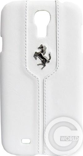 Чехол Ferrari Montecarlo Collection Leather Hard Case for Galaxy S4 White
