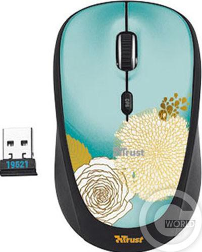 Мышь TRUST YVI Wireless Mouse Flower