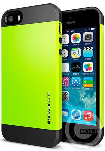 SGP iPhone 5S/5 Case Slim Armor S Lime