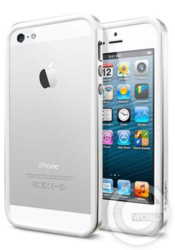 SGP iPhone 5S/5 Case Neo Hybrid EX Slim Metal Series Satin Silver