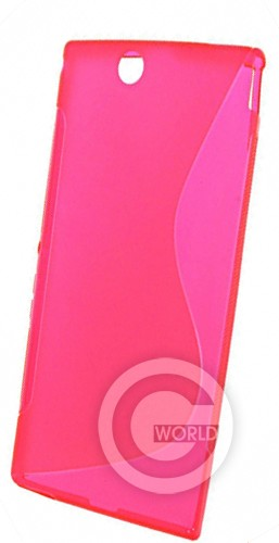 Чехол TPU case for Sony LT36H Pink