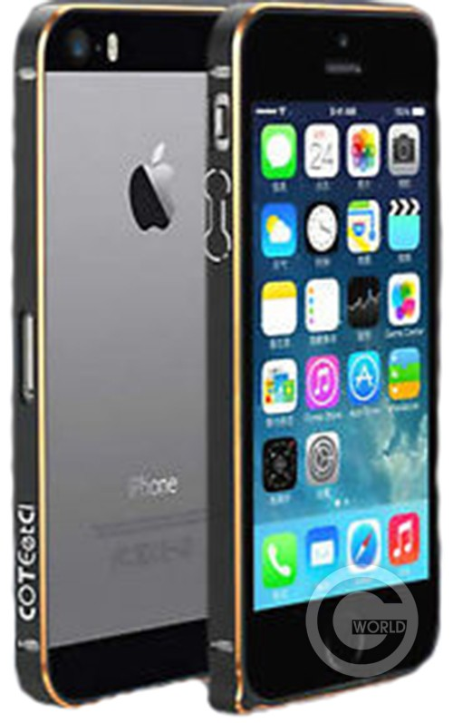 COTEETCI for iPhone 5/5S Black and Gold